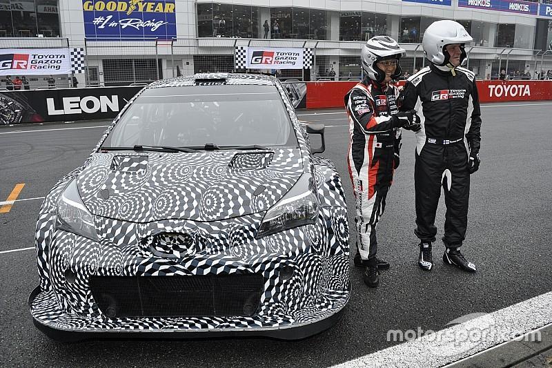 "【WRC】トヨタのWRC用テストマシン""ヤリスWRC""がTGRFで日本初公開"