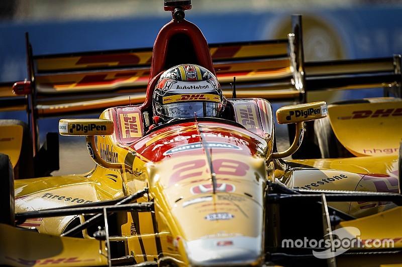 IndyCar St Petersburg: Dixon snelste in warm-up, Hunter-Reay crasht flink