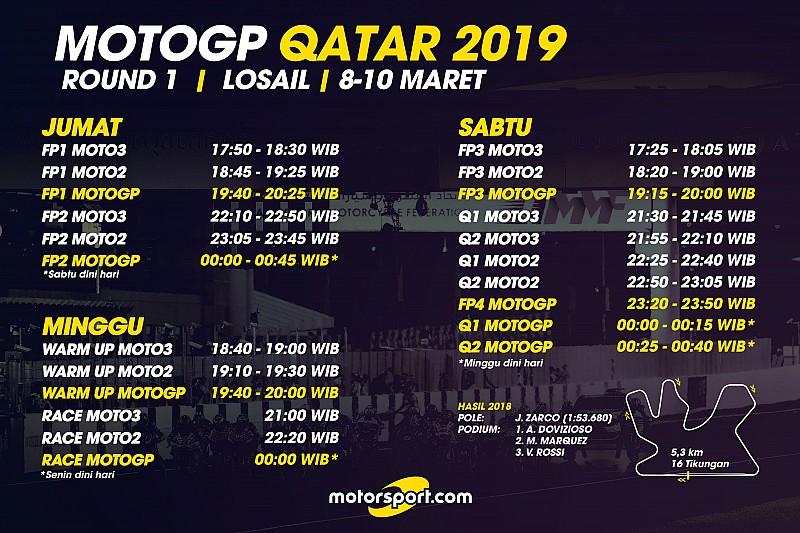 Jadwal lengkap MotoGP Qatar 2019   Berita MotoGP