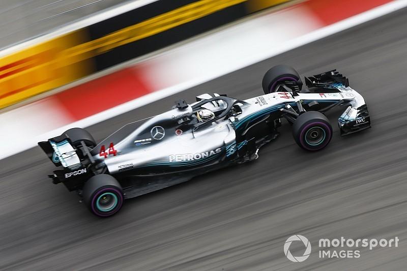 Hamilton fue el más rápido del viernes en Rusia