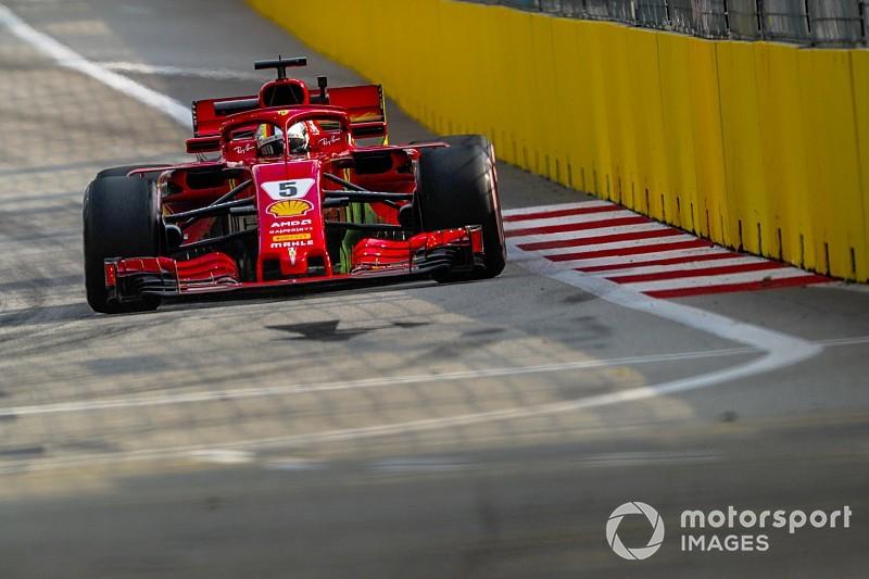 Vettel y Ferrari dominan la última práctica en Singapur
