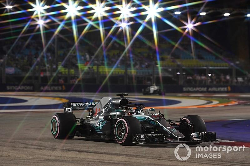 "Hamilton vê Red Bull na briga na ""quente"" Singapura"
