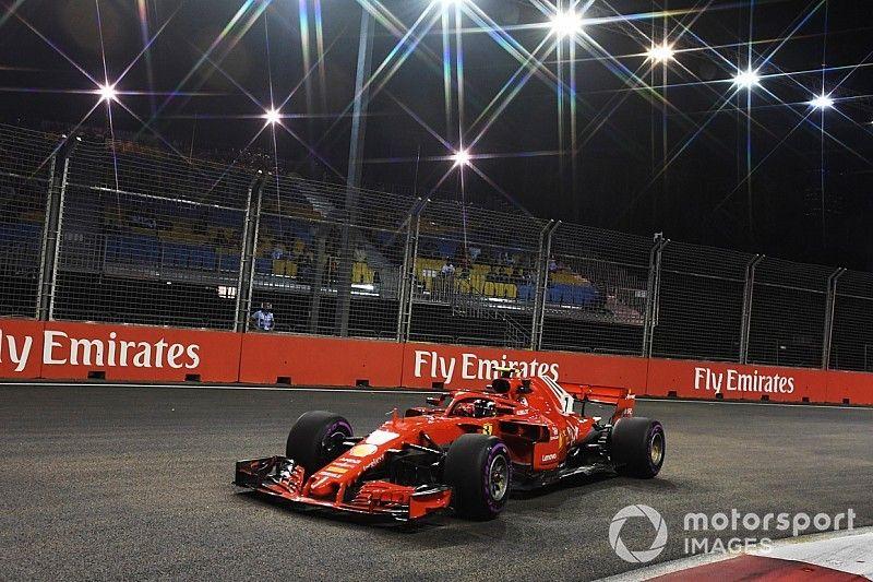Raikkonen snelste op eerste dag in Singapore, Verstappen derde