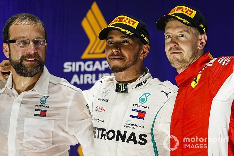 Hamilton trots dat hij geen 'Vettel-achtige' fouten maakt