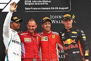 GP Belgia: Kecelakaan besar warnai kemenangan Vettel atas Hamilton