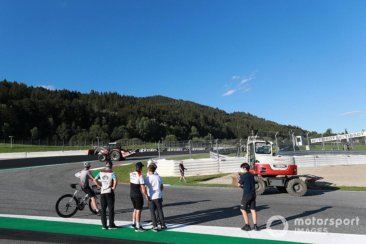 Los cambios en la curva 3 del Red Bull Ring y otras fotos del jueves del GP de Estiria