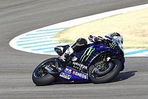 Viñales y Rossi dan a Yamaha un doblete en la FP1 de Jerez