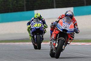 MotoGP FT1 in Sepang: Dovizioso hauchdünn vor Rossi