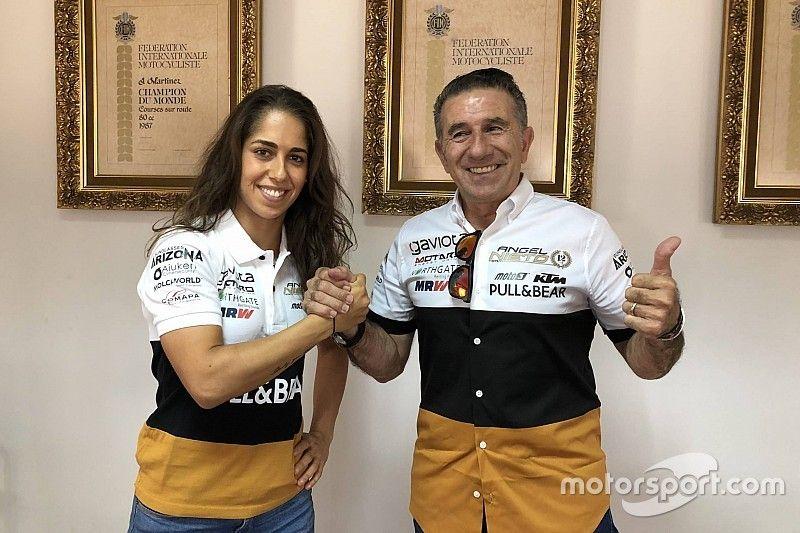 María Herrera llega a MotoE con el equipo Angel Nieto
