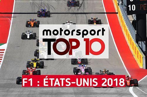 Vidéo - Le top 10 du GP des États-Unis