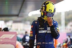 """F1初優勝まであと一歩だった……ランド・ノリス、""""ステイアウト""""の判断を悔やむ「でも、その判断以外は""""満足""""」"""