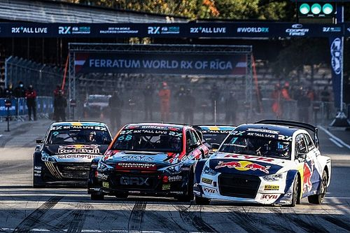 Latvia WRX: Gronholm survives contact to win first leg