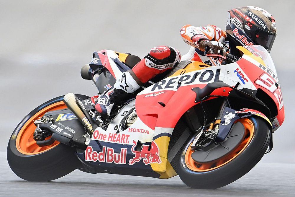 MotoGP Austin 1. antrenman: Islak zeminde en hızlısı Marquez