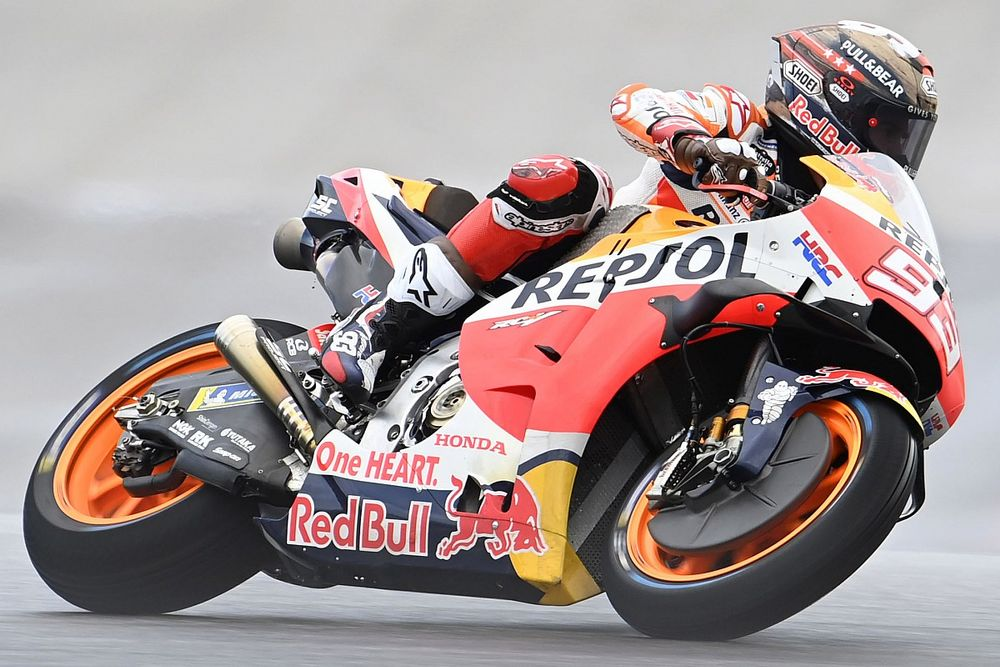 MotoGPアメリカズFP1:マルケス、得意COTAをトップでスタート。ランク首位クアルタラロは雨に苦戦