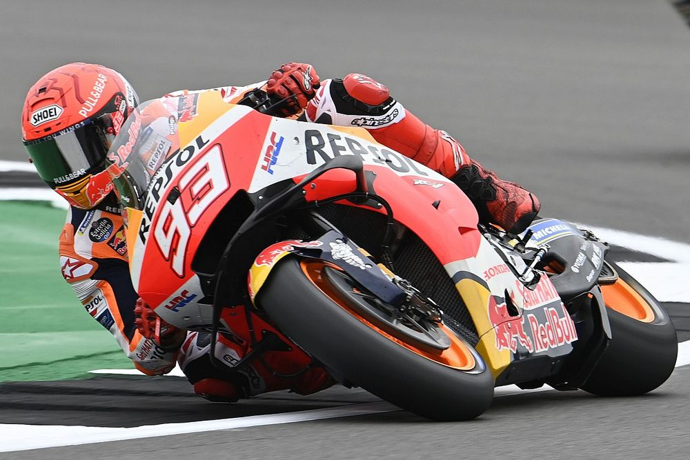 Hasil FP1 MotoGP Inggris: Diwarnai Red Flag, Marc Marquez Tercepat