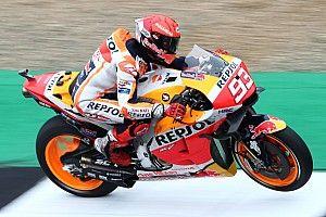 British MotoGP: Marquez fastest in FP1 despite high-speed crash