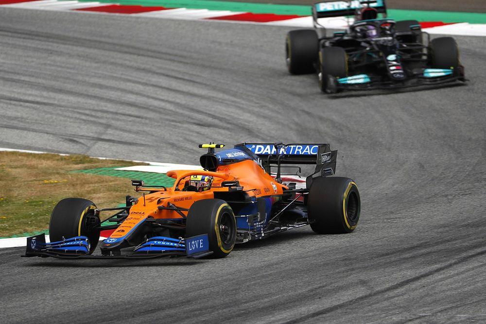Norris reacts to Hamilton's Austrian GP 'great driver' compliment