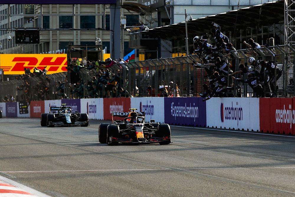 Grand Prix race result: Perez wins Baku F1 race after Verstappen blowout