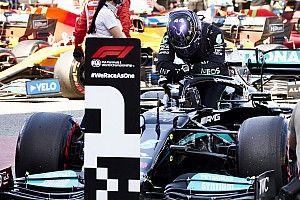 Hamilton schrijft historie met honderdste pole-position in F1