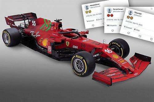 Les internautes réagissent à la livrée inédite de Ferrari