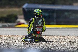 Rossi put ondanks crash toch moed uit Portugese GP