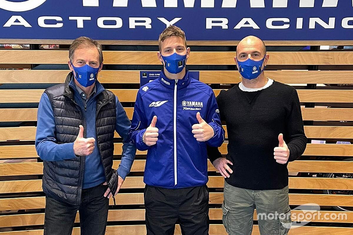 Fabio Quartararo fait sa première visite à l'usine Yamaha