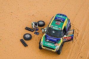 Fotos: los estragos que causó la primera mitad de la etapa maratón del Dakar 2021