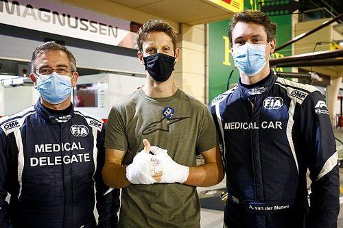 Grosjean se reencontró con quienes salvaron su vida