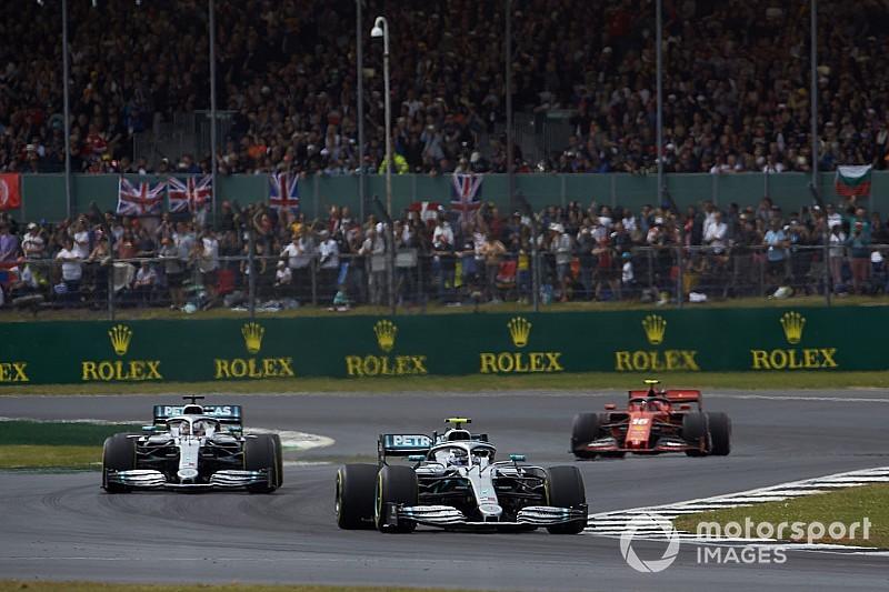 """Hamilton: """"Banden grotere factor bij volgen dan aerodynamica"""""""