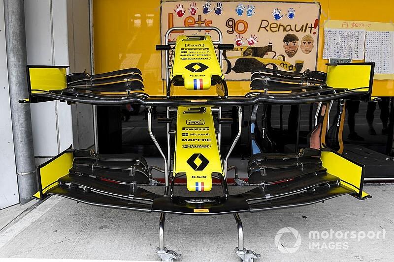 Renault: cambia il concetto dell'ala anteriore