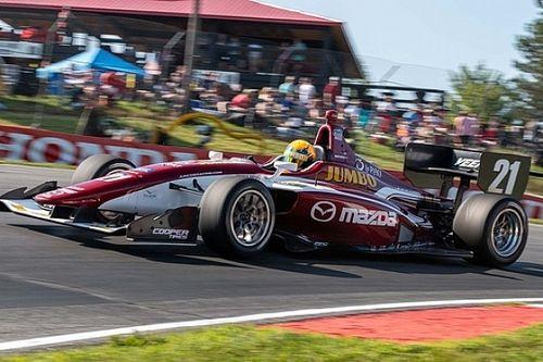 Dubbel podium Rinus van Kalmthout bij Indy Lights op Mid-Ohio