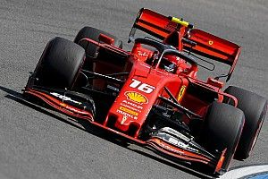 German GP: Leclerc quickest in FP2 as Gasly crashes