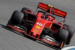Leclerc queda al frente en un viernes todo rojo en Alemania