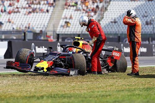 Vídeo: el accidente de Gasly que está dejando sin piezas a Red Bull