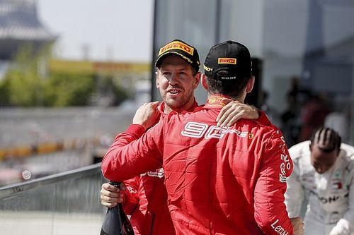 """Leclerc wist niet van straf Vettel: """"Maar ik pushte sowieso al"""""""