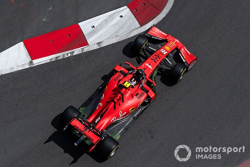 Azerbaijan GP: Leclerc tops incident-filled FP2