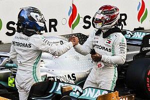 Bottas elégedett, Hamilton hálás a Mercedes első sor után