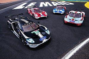 Ford lleva decoraciones retro en sus GT para sus últimas 24h de Le Mans