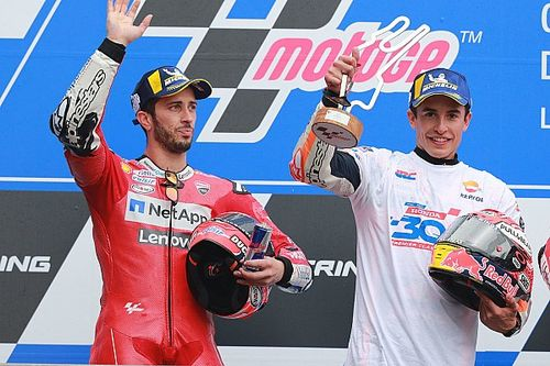 Dovizioso: Kalahkan Marquez tak cukup dengan berdoa