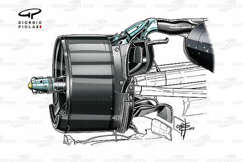 Технический анализ: спорный элемент в подвеске Mercedes W10