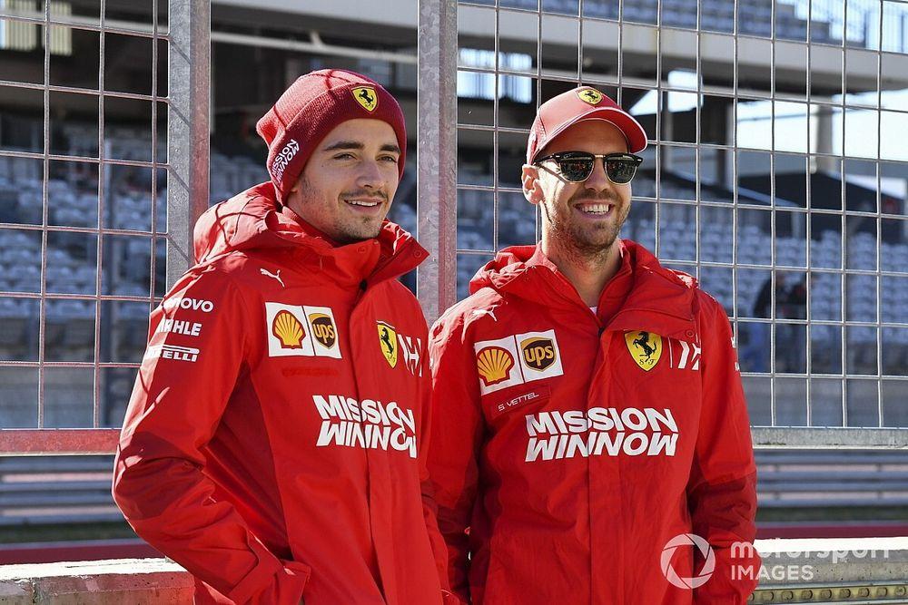 Vettel diz que batalha com Leclerc é menos importante que desenvolvimento com Ferrari