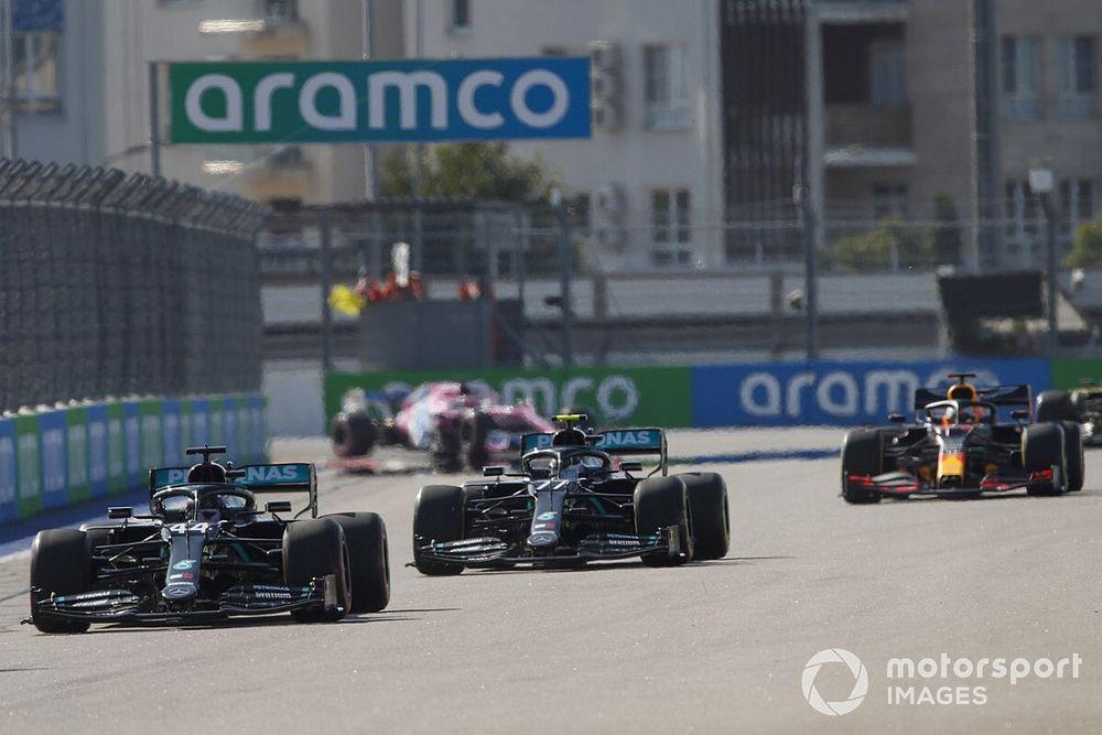 F1ロシアGP速報|ボッタス独走で今季2勝目。レッドブルのフェルスタッペン2位