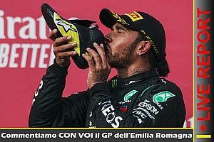 REPORT LIVE F1: commentiamo con voi il GP dell'Emilia Romagna