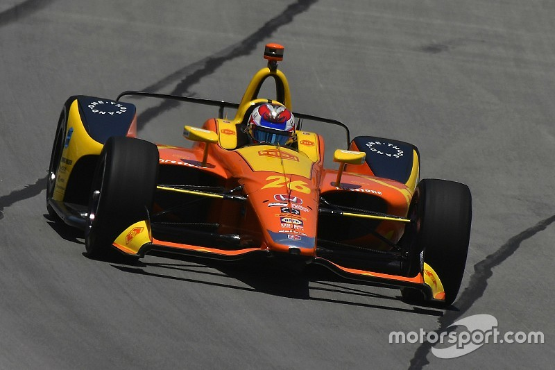 Pocono IndyCar: Veach tops delayed opening practice