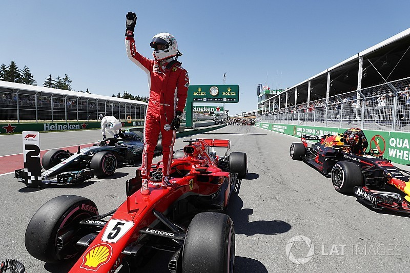 Canadian GP: Vettel beats Bottas, Verstappen to pole
