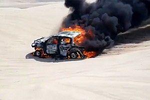 Porig égett a 2018-as Dakar egyik női résztvevőjének autója