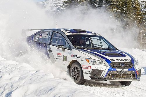Antoine L'Estage wins the Big White Winter Rally