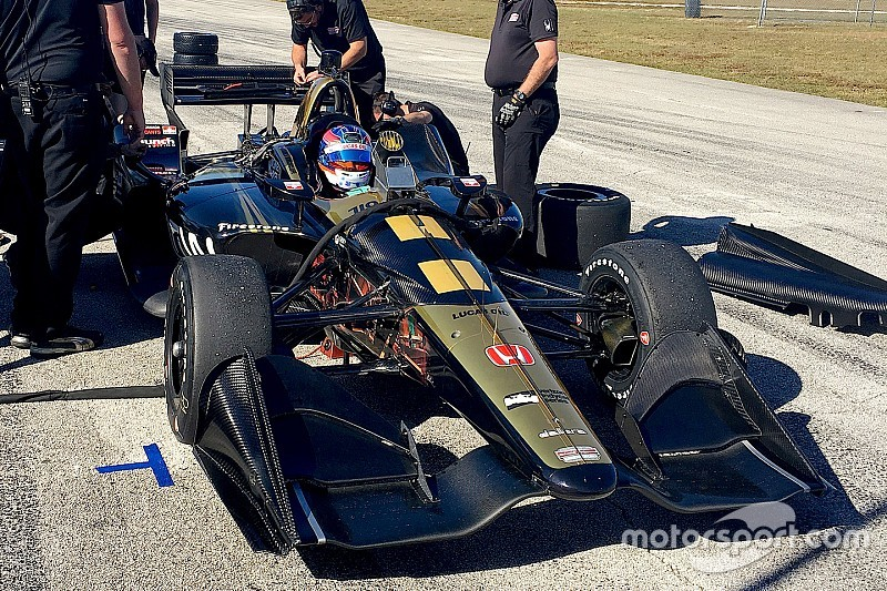 """Wickens happy with """"positive"""" first test of 2018 IndyCar"""