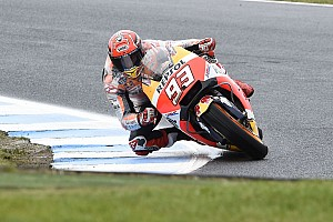 Márquez reconfirma su dominio en el warm up de Phillip Island