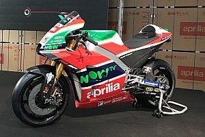 GALERIA: Aprilia revela pintura de moto para 2018
